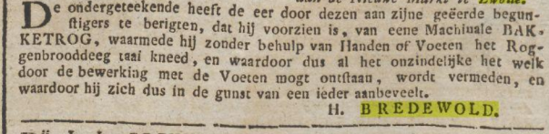 bakkerstrog Bredewold Zwolle