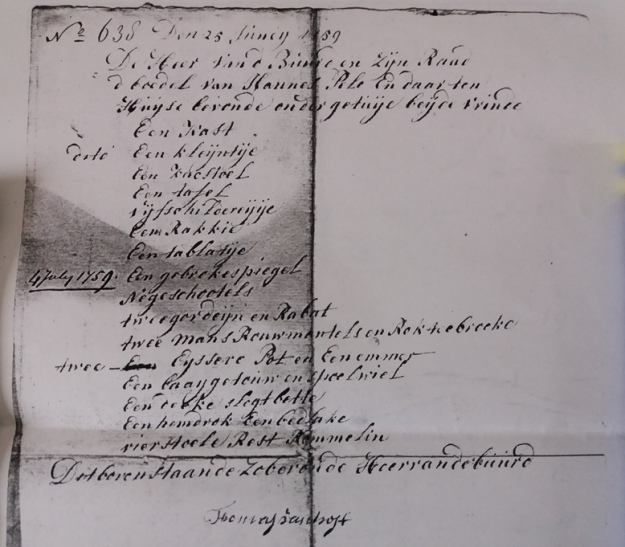 boedel johannes pel 1759